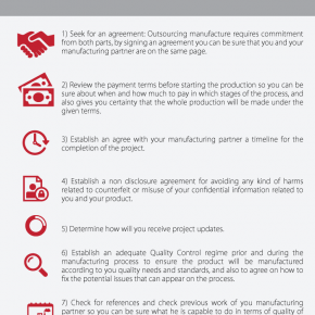 C2W Infographic – 8 tips for outsourcing manufacture sucessfully