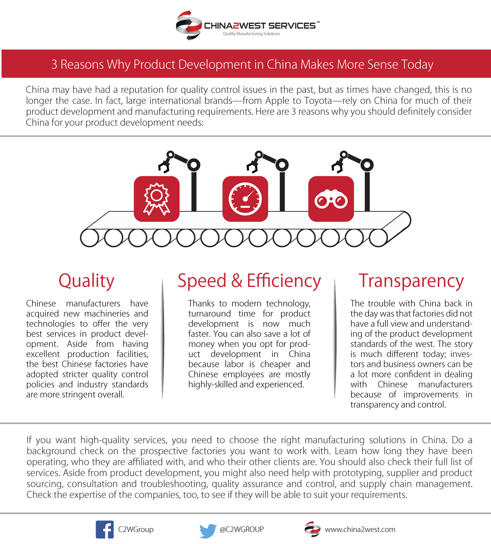 C2W Infographic - 3 Reasons Why Product Development in China Makes More Sense Today
