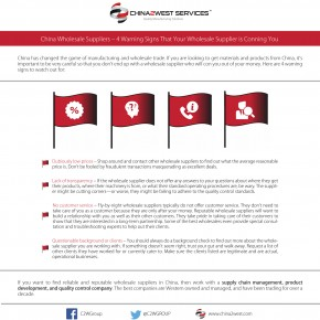 C2W Infographic – China Wholesale Suppliers-4 Warning Signs That Your Wholesale Supplier is Conning You