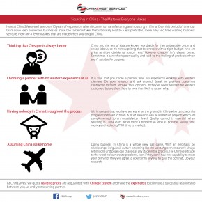 C2W Infographic – Sourcing in China-The Mistakes Everyone Makes