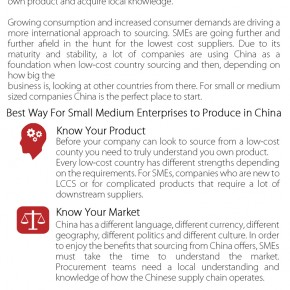 C2W Infographic – China sourcing a guide for SME's: Best ways for SME's to source from China