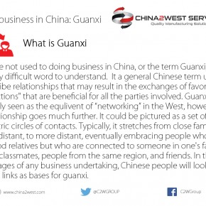 """C2W Infographic – Doing business in China """"Guanxi"""""""