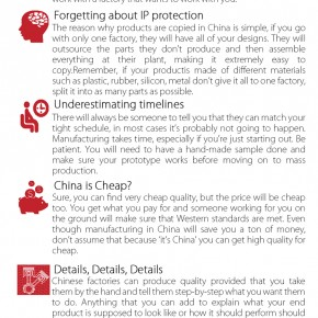 C2W Infographic – How to avoid serious headache while manufacturing in China