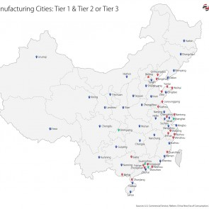 C2W Infographic – China Tier Cities
