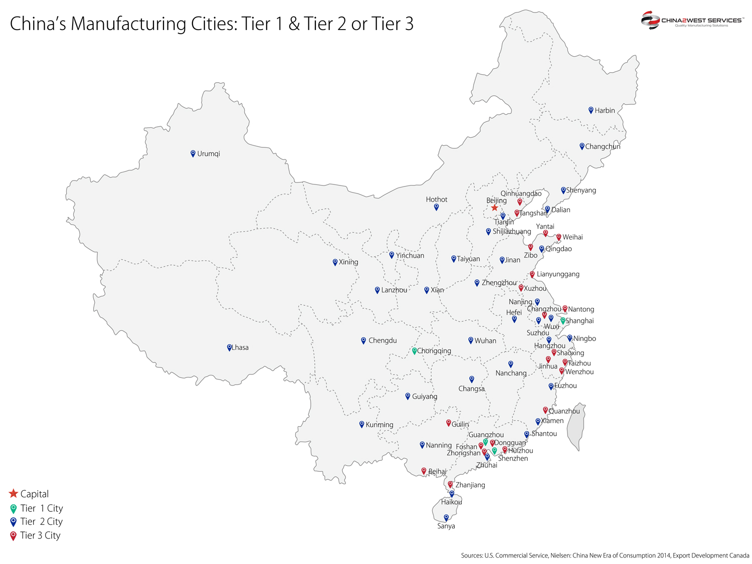 China Manufacturing Cities - China 2 West Services Ltd on