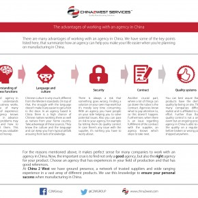 C2W Infographic – The Advantages of Working with an Agency in China