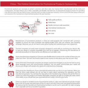 C2W Infographic – China-The Hottest Destination For Promotional Products Outsourcing