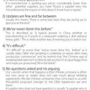 C2W Infographic – 6 China Manufacturing Red Flags