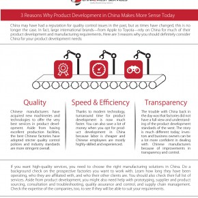C2W Infographic – 3 Reasons Why Product Development in China Makes More Sense Today