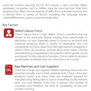 C2W Infographic – China sourcing a guide for SME's: Why SME's produce in China