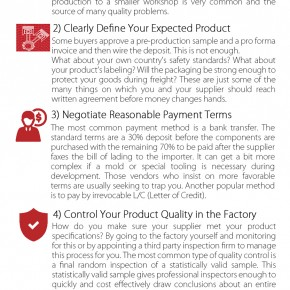 C2W Infographic – Five Steps for buying products from China
