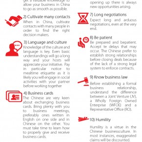 C2W Infographic – Top 10 Cultural rules for doing business in China