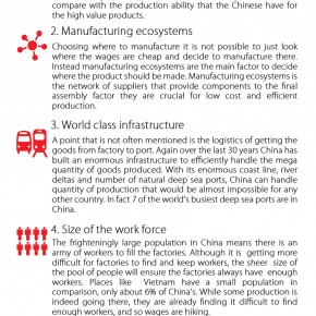 C2W Infographic – Why China will alway remain a world class manufacturer