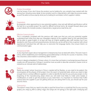 C2W Infographic – The Skill Set Required for Sourcing in China Effectively