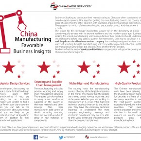 C2W Infographic – China Manufacturing-Favorable Business Insights