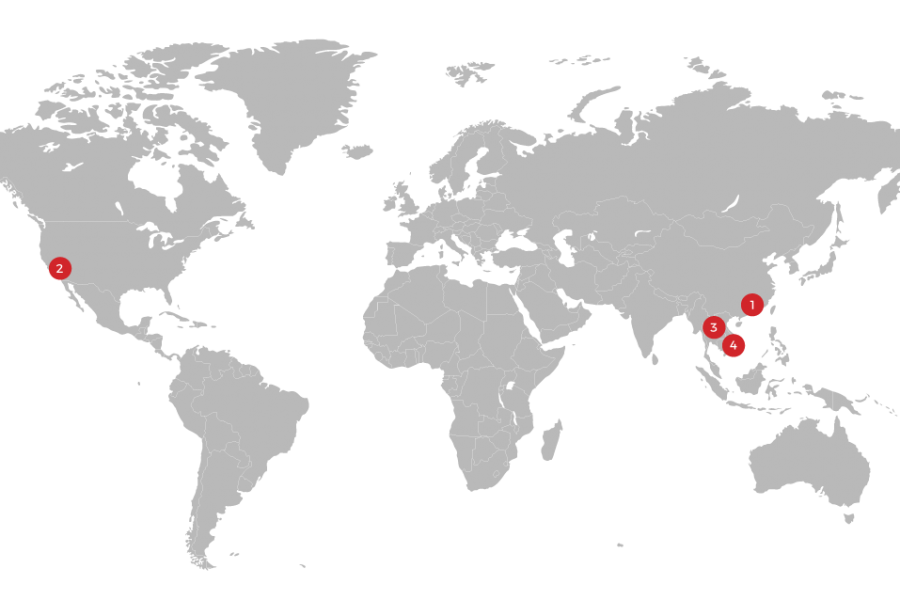 image of a map showing china 2 west regional office locations manufacturing in china vs vietnam